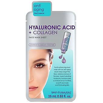 Kožní republika kyselina hyaluronová + kolagenová obličejová maska 25ml