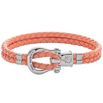 Paul Hewitt Bracelet PH-FSH-L-S-A-S - Steel PHINITY SHACKLE Mixed Apricot Leather