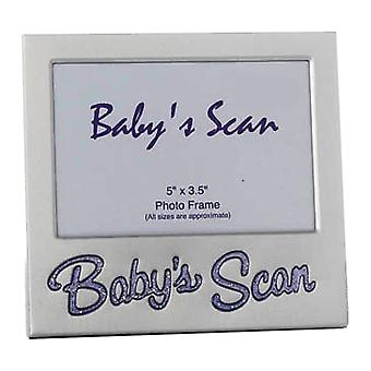 Shudehill Giftware Babys Scan Purple Text 5 X 3.5 Photo Frame