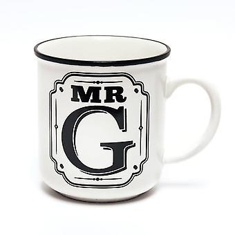 History & Heraldry Alphabet Mugs-mr G