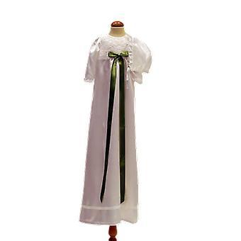 Vit Dopklänning Och Hätta, Med Grön Rosett Grace Of Sweden  Ma.v