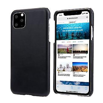 Für iPhone 11 Pro Max Case Elegantes Echtleder zurück Schutzhülle schwarz