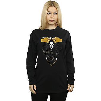 DC Comics Women's Birds Of Prey Black Mask Boyfriend Fit Long Sleeved T-Shirt