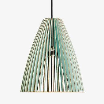 Iumi Teia Large Cone Shaped Birch Plywood Pendant Lamp - Light Blue