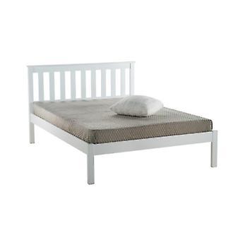 135CM DENVER LOW END BED WHITE