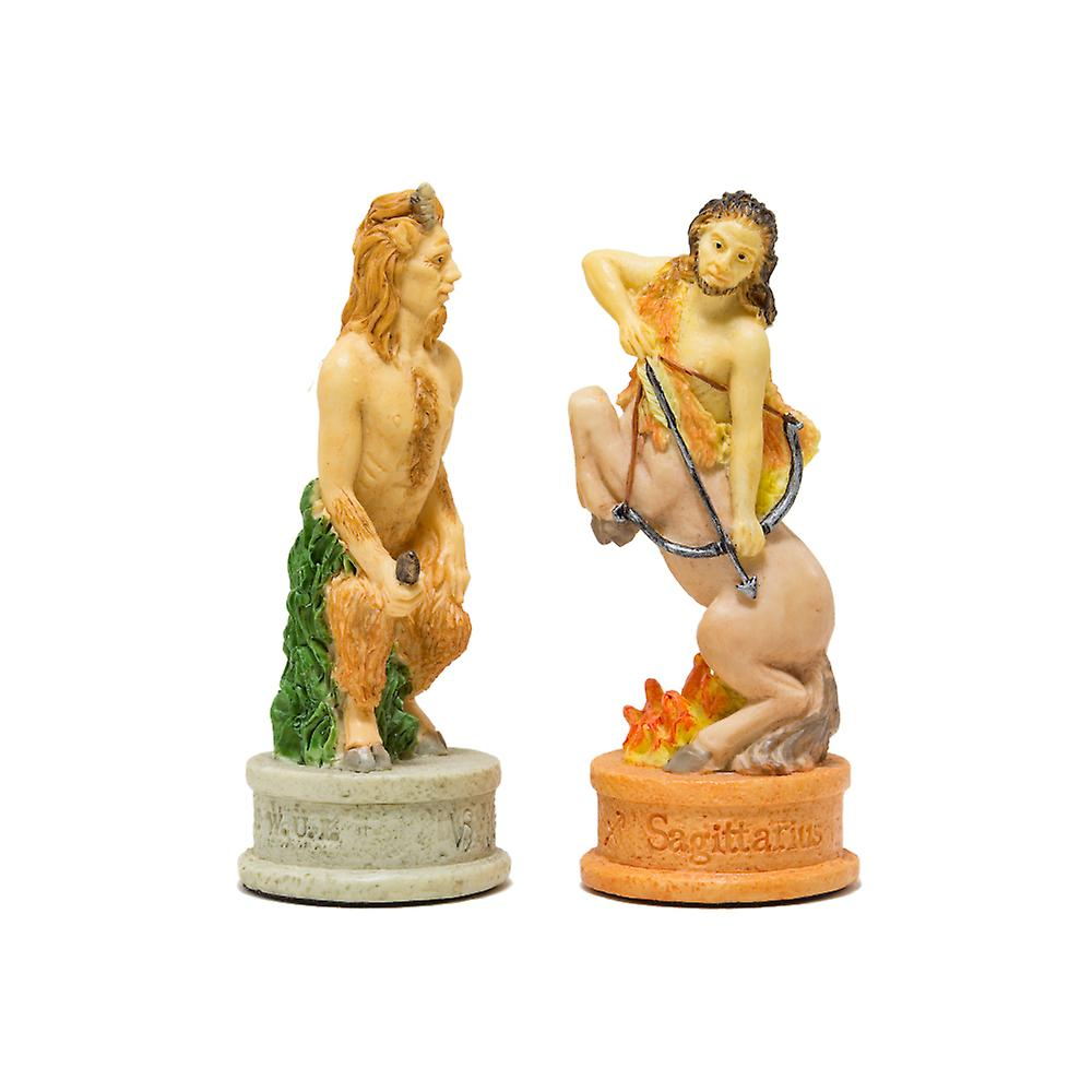 The Zodiac hand painted Italian themed chess pieces by Italfama