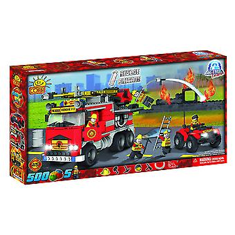 Action Town 500 Piece Fire Rescue Brigade Construction Set
