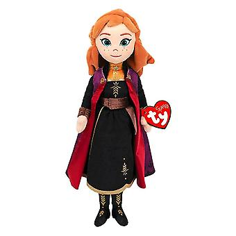 "Disney Frozen Anna TY Beanie 14"" Plush Toy with Sound"