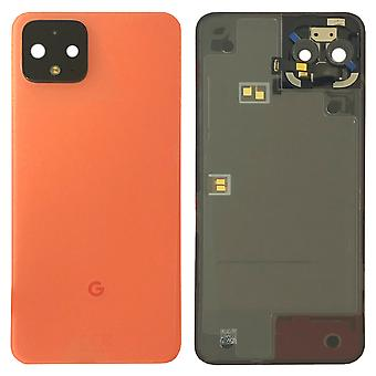 Google Battery Cover pour Pixel 4 Orange Battery Cover Spare Part Backcover Lid Battery