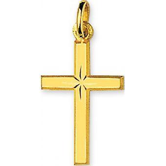 Ciondolo a croce gialla oro 375/1000 (9K)