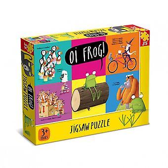Oi 36 Piece Jigsaw Puzzle Cat Dog Frog