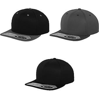 Yupoong Flexfit Unisex 110 Plain Fitted Snapback Cap (Pack of 2)