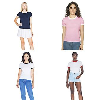 T-shirt American Apparel Ladies Poly/Cotton Ringer