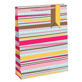 Eurowrap Summer Stripe Gift Bags (Pack of 6)
