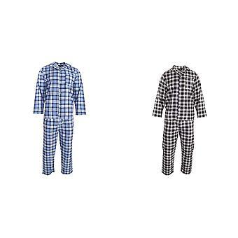Walter Grange Mens Traditional Check Cotton Pyjama Set