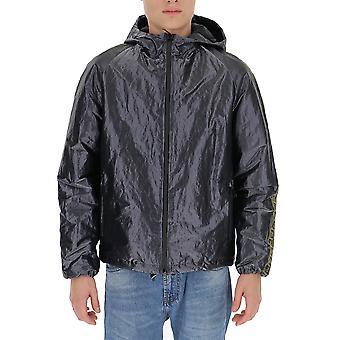 Fendi Faa640a9q3f18n6 Men's Blue Nylon Outerwear Jacket