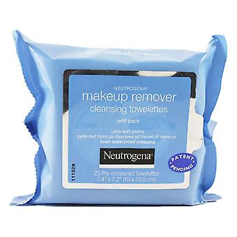 Neutrogena make-up remover cleansing towelettes refill pack, 25 ea
