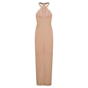 Little Mistress Womens/Ladies Embellished Satin Maxi Dress