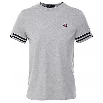 Fred Perry camiseta abstracta del manguito M8529 420