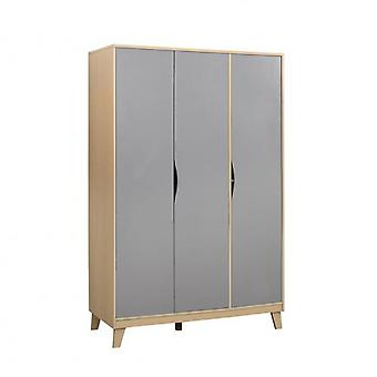 Kingston 3 Door Wardrobe - Beech