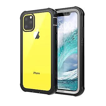 iPhone 11 Pro Shell met screenprotector zwart/zilver