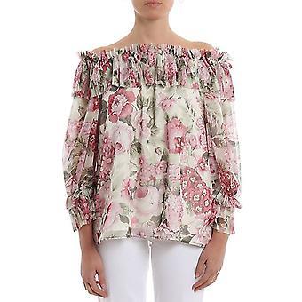 P.a.r.o.s.h. D311276802 Women's Multicolor Polyester Blouse