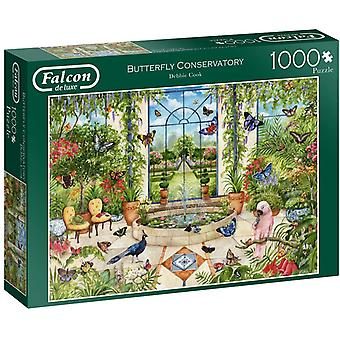 Falcon De Luxe 1000 Piece Jigsaw Puzzle - Butterfly Conservatory