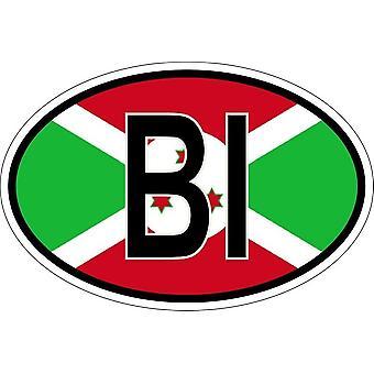 ملصقا بيضاوي ة البيضاوي العلم رمز البلد RU بوروندي
