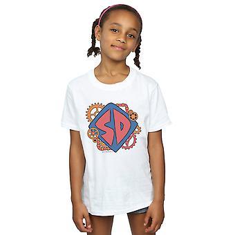 Scoob! Camiseta de meninas dog tag cogs