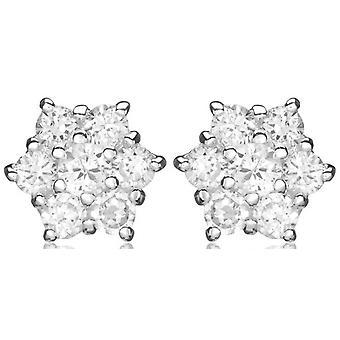 Örhänge med KJ Beckett kluster Cubic Zirconia - Silver