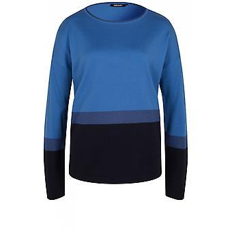 Olsen Blue Block Design Sweater