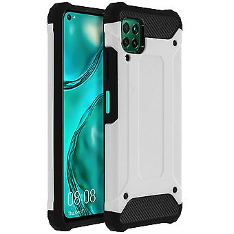 Defender II Series Protection Case Huawei P40 Lite, Drop bevis (1,80m) - Sølv