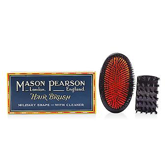 Boar bristle sensitive military pure bristle medium size hair brush (dark ruby) 105061 1pc