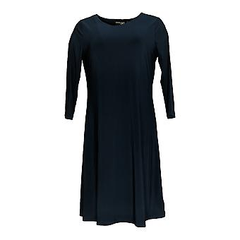 Attitudes by Renee Dress A-Line Style w/ Top Navy Blue A308328