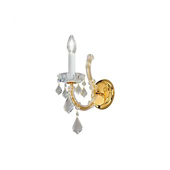 Crystal Wall Light Maria Louise 24 Carats Gold 1 Bulb