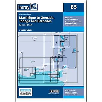 Imray Chart B5 - Martinique to Tobago and Barbados Passage Chart by Im