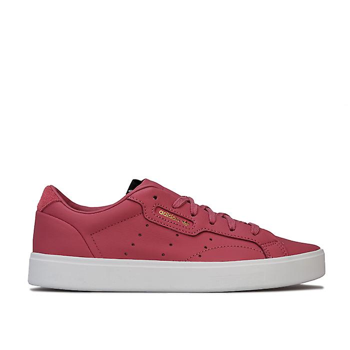 Women's adidas Originals Sleek Trainers in Red aA5Q3