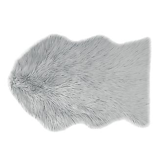 Country Club tapis fausse fourrure gris