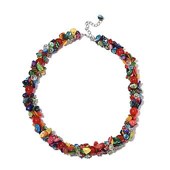 Cluster Multi Colour Shell Ketting Base Metal Multi Colour Glass, Hars TJC