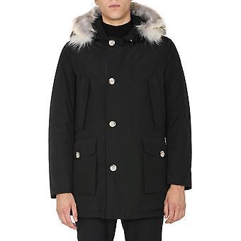 Woolrich Woou0270mrut0108nbl Men's Black Cotton Outerwear Jacket