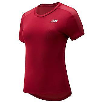 New Balance Womens 2020 Impact Run Krótki rękaw Lekki odblaskowy T-Shirt