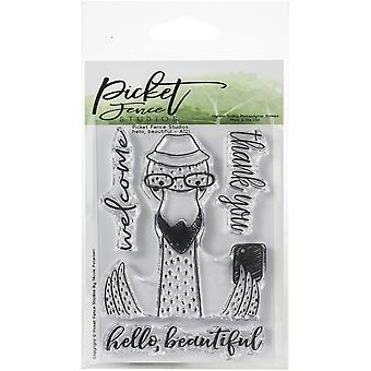 Picket Fence Studios Hello, Beautiful Clear Stamps