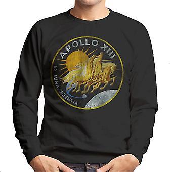NASA Apollo 13 Mission Badge Distressed Men's Sweatshirt