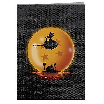 Dragon Ball Goku On Sunset Greeting Card