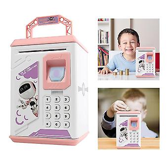 Smart Fingerprint Atm Password Electronic Piggy Bank - Cash Coin Money Saving