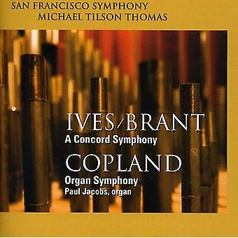 Ives/Copland - Ives/Brant: A Concord Symphony; Copland: Organ Symphony [SACD] USA import