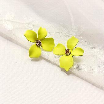Gelbe Blume Design Statement Ohrringe