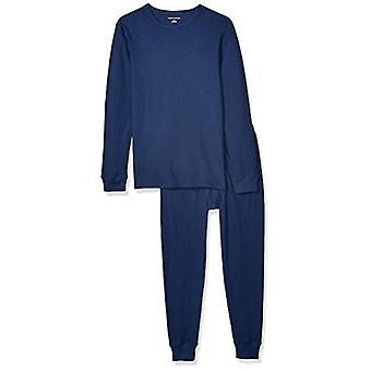أساسيات الرجال & apos;ق الحرارية مجموعة الملابس الداخلية الطويلة, البحرية, X-Large