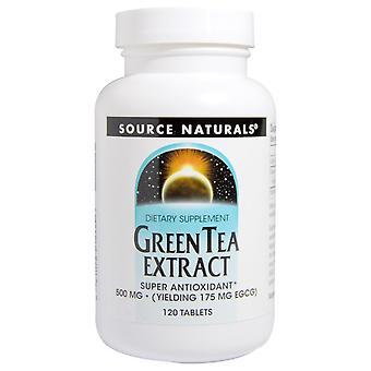 Source Naturals, Extrait de thé vert, 500 mg, 120 comprimés