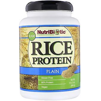 NutriBiotic, Raw Rice Protein, Plain , 1 lb. 5 oz (600 g)